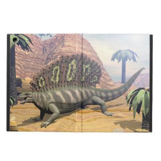 Capa Para iPad Air Dinossauro do Edaphosaurus que anda no deserto
