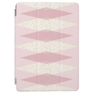 Capa Para iPad Air Do iPad cor-de-rosa moderno de Argyle do meio