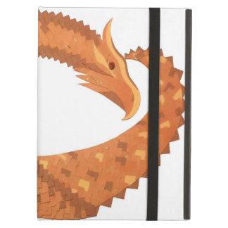 Capa Para iPad Air Dragão alaranjado queimado do coração no branco