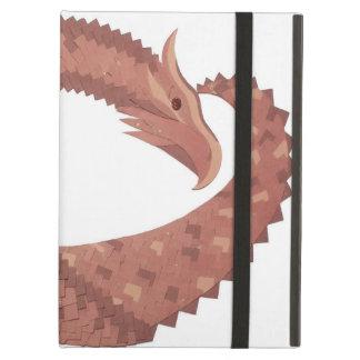 Capa Para iPad Air Dragão do coração de Brown no branco