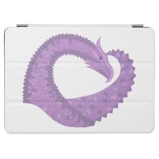 Capa Para iPad Air Dragão do coração roxo da lavanda no branco