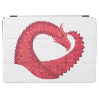 Capa Para iPad Air Dragão vermelho do coração no branco