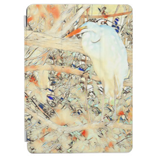 Capa Para iPad Air Egret do vitral