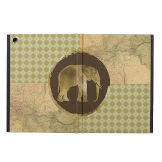 Capa Para iPad Air Elefante africano no mapa e no Argyle