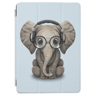 Capa Para iPad Air Elefante bonito DJ do bebê que veste fones de