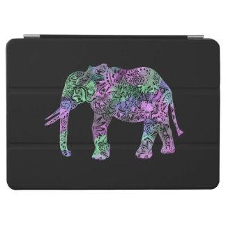 Capa Para iPad Air elefante de néon floral tribal colorido