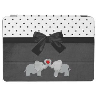 Capa Para iPad Air Elefantes adoráveis bonitos, bolinhas, arco preto