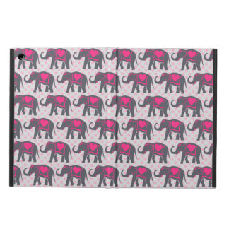 Capa Para iPad Air Elefantes cor-de-rosa quentes cinzentos bonito em