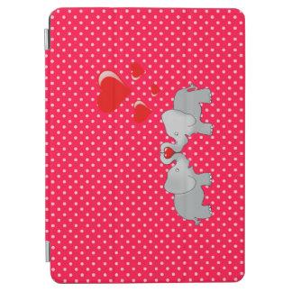 Capa Para iPad Air Elefantes românticos & corações vermelhos em