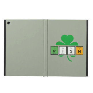 Capa Para iPad Air Elemento químico Zz37b do cloverleaf irlandês