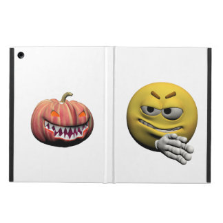 Capa Para iPad Air Emoticon amarelo ou smiley do Dia das Bruxas