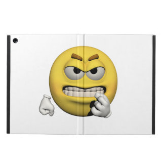 Capa Para iPad Air Emoticon irritado amarelo ou smiley