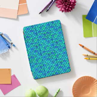 Capa Para iPad Air Escalas do azul do Aqua de Falln
