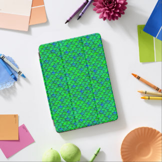 Capa Para iPad Air Escalas verdes do azul de Falln