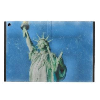 Capa Para iPad Air Estátua da liberdade, pintura das aguarelas de New