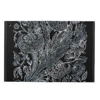 Capa Para iPad Air estilo floral de prata do embutimento