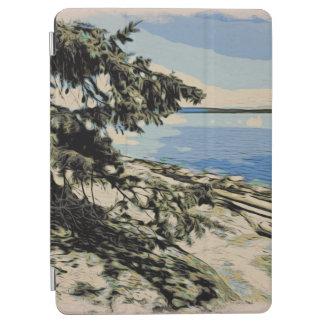 Capa Para iPad Air Estilo pacífico do woodblock da praia