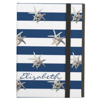 Capa Para iPad Air Estrela do mar adorável, azul marinho