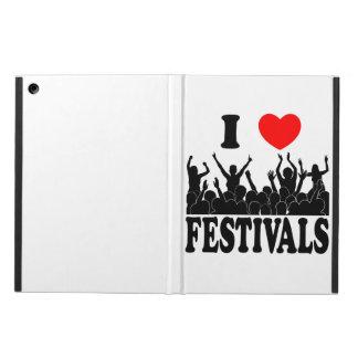 Capa Para iPad Air Eu amo os festivais (o preto)