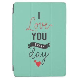 Capa Para iPad Air Eu te amo caixa diária do ar do iPad dos namorados