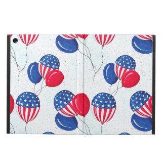 Capa Para iPad Air EUA bandeira balão americano o 4 de julho