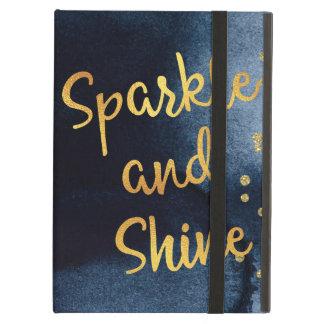 Capa Para iPad Air Faísca e de ouro & de aguarela do brilho arte da