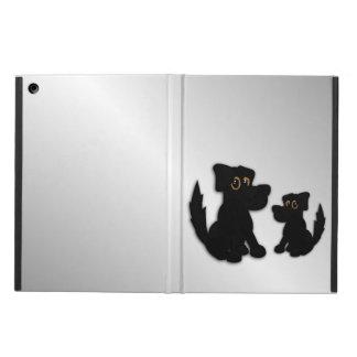 Capa Para iPad Air Família de cão preto