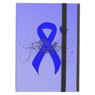 Capa Para iPad Air Fita azul com borboleta