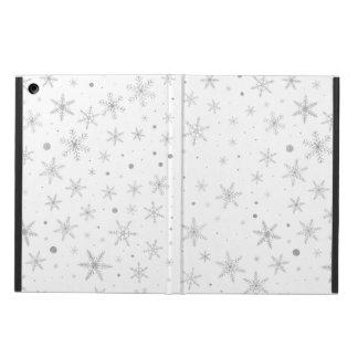 Capa Para iPad Air Floco de neve da cintilação - cinza & Branco de