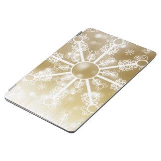 Capa Para iPad Air Floco de neve do ouro