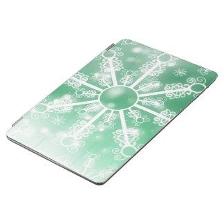 Capa Para iPad Air Floco de neve verde