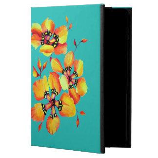 Capa Para iPad Air Flores alaranjadas brilhantes - Aqua