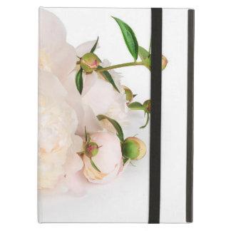 Capa Para iPad Air Flores brancas do caso de IPad