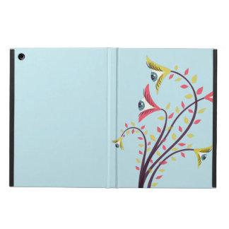 Capa Para iPad Air Flores coloridas estranhas com olhos olhando
