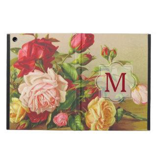 Capa Para iPad Air Flores do buquê dos rosas do Victorian do vintage