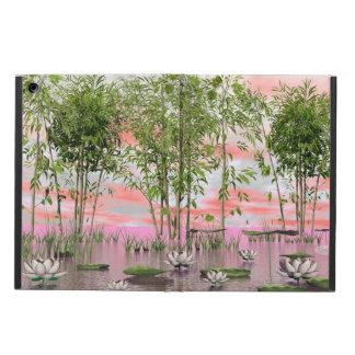 Capa Para iPad Air Flores e bambus de Lotus - 3D rendem