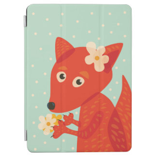 Capa Para iPad Air Flores e Fox bonito