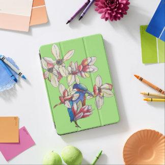 Capa Para iPad Air flores e um pássaro