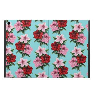 Capa Para iPad Air flores rosas vermelha na luz da cerceta