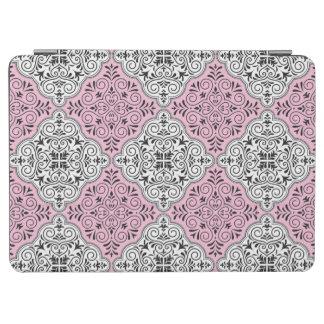 Capa Para iPad Air Flourish Rococo cor-de-rosa do teste padrão