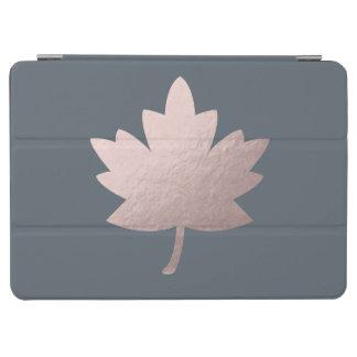 Capa Para iPad Air folha cor-de-rosa clara elegante da folha de ouro