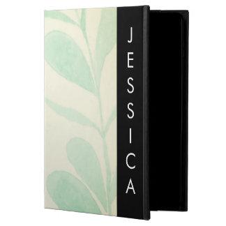 Capa Para iPad Air Folhas macias da aguarela com nome feito sob
