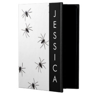 Capa Para iPad Air Foto da aranha do gótico com nome feito sob