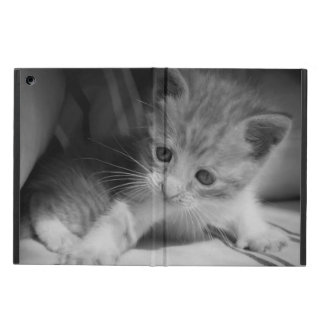 Capa Para iPad Air Fotografia preto e branco do gatinho