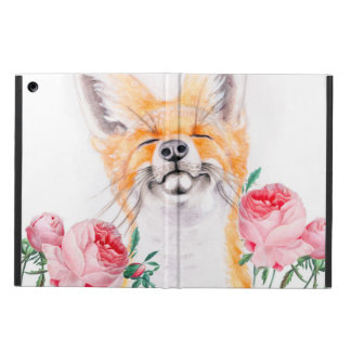 Capa Para iPad Air Foxy feliz e rosas