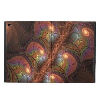 Capa Para iPad Air Fractal moderno abstrato fluorescente colorido de