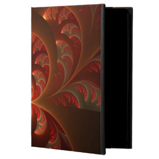 Capa Para iPad Air Fractal moderno abstrato luminoso do vermelho