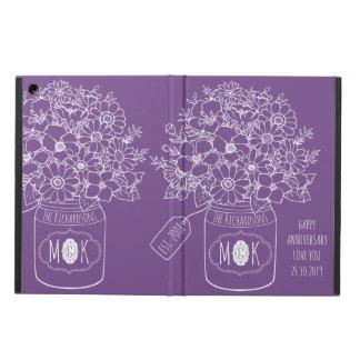 Capa Para iPad Air Frasco de pedreiro do buquê dos Wildflowers do