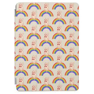 Capa Para iPad Air Frenchie comemora o mês do orgulho no arco-íris de