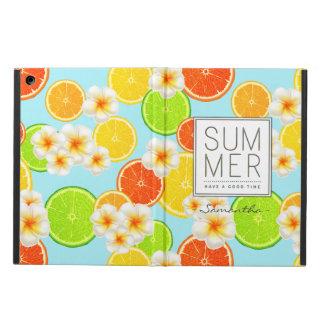Capa Para iPad Air Frutas frescas do verão e flores exóticas do